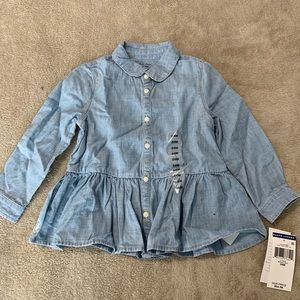 Ralph Lauren Shirts & Tops - Ralph Lauren denim button up shirt. 24 months